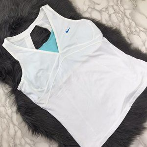 Nike White Active Lined Tank